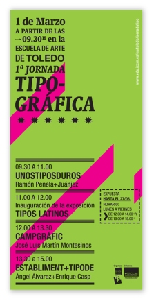 Flyer. Escuela Arte Toledo